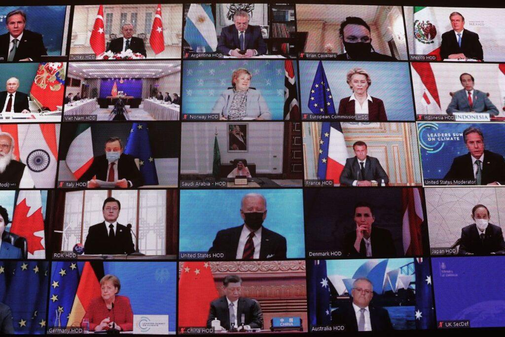 partecipanti summit clima Biden
