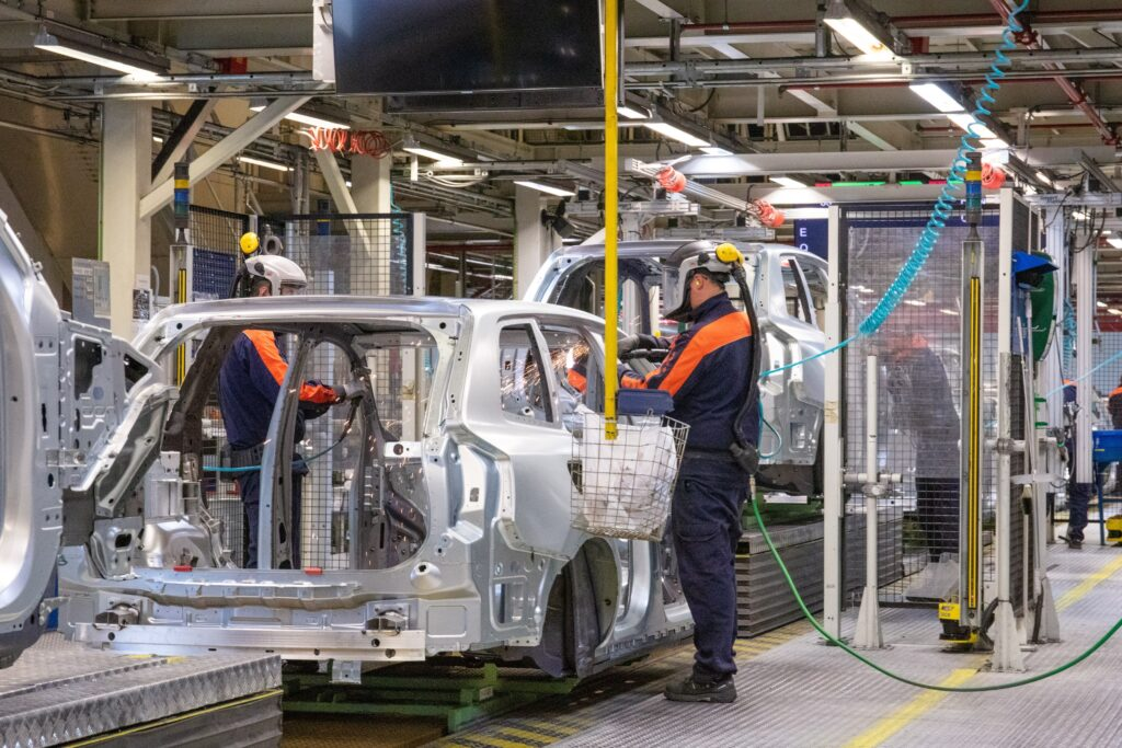 Linea montaggio Volvo