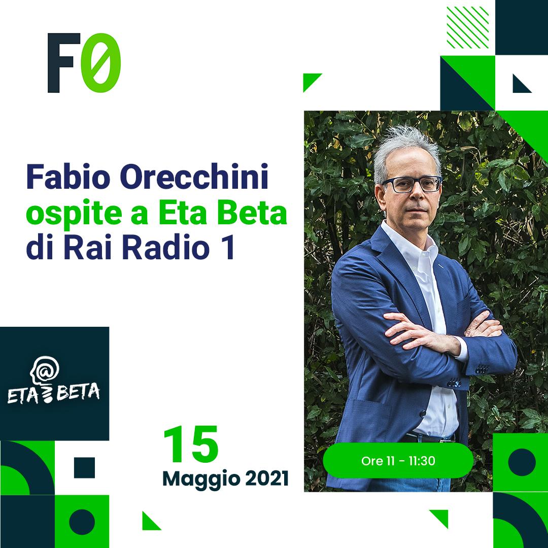 Terre rare e altri materiali critici, Fabio Orecchini in diretta a Eta Beta di Rai Radio1