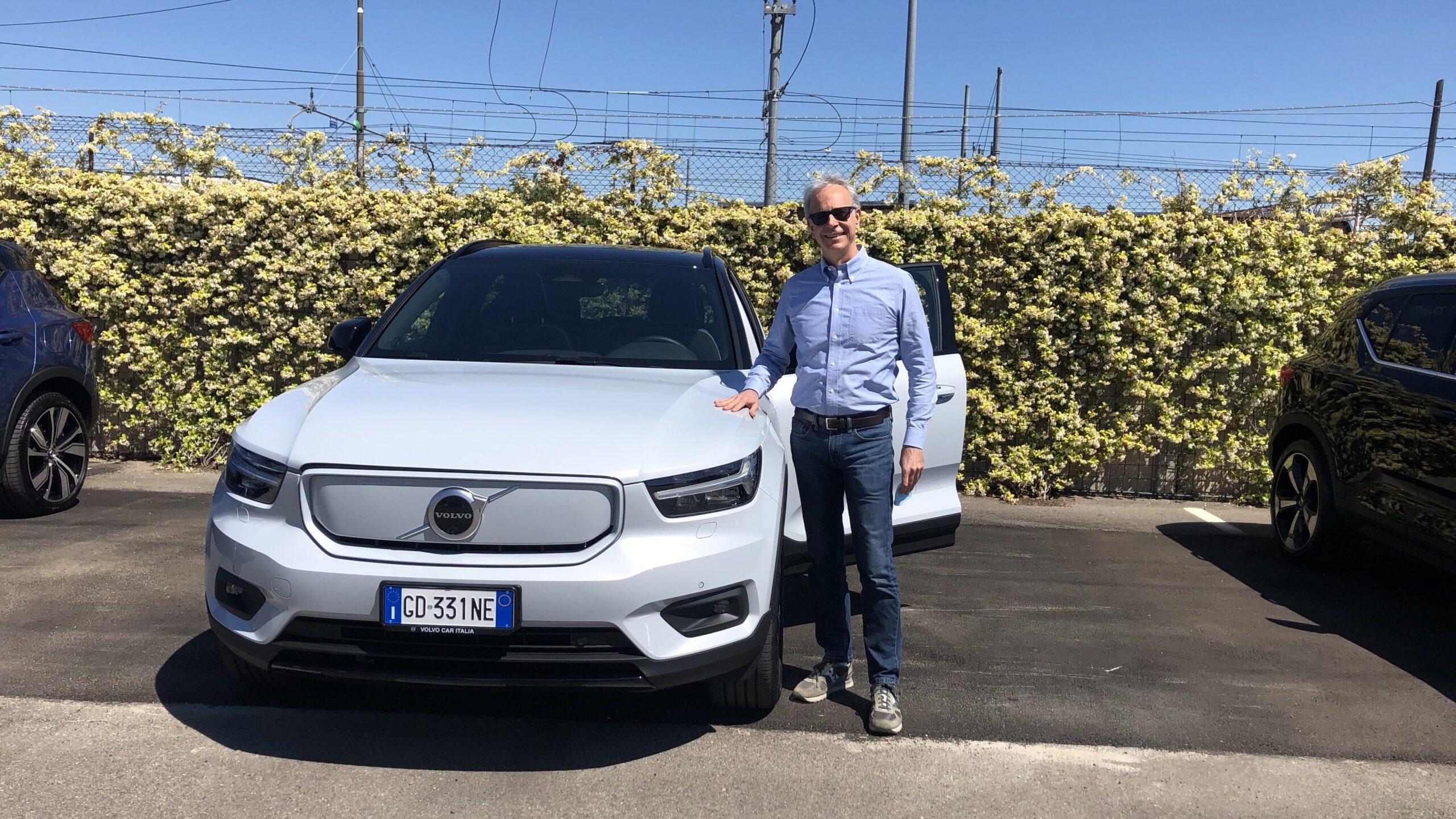 Inizio prova Volvo XC40 ev prev sede Volvo Bologna