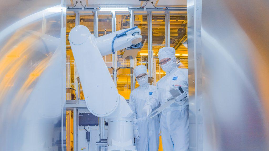 Bosch Dresda robot produzione