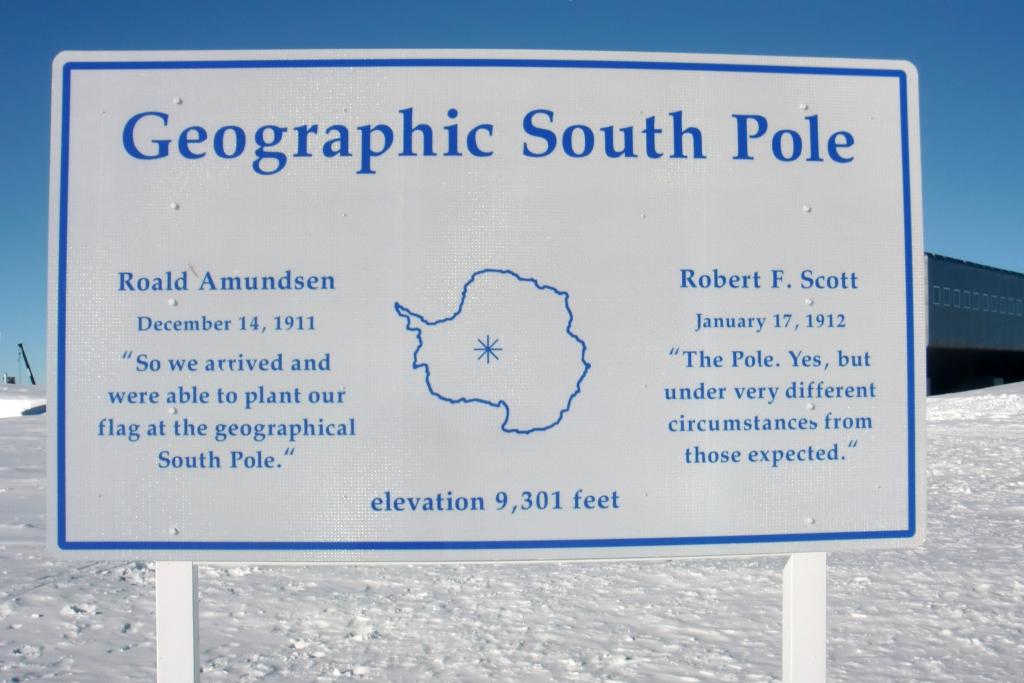 Cartello Polo Sud geografico