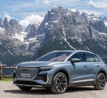 Audi Q4 E-tron, con il nuovo suv elettrico compatto tra Verona e il Trentino