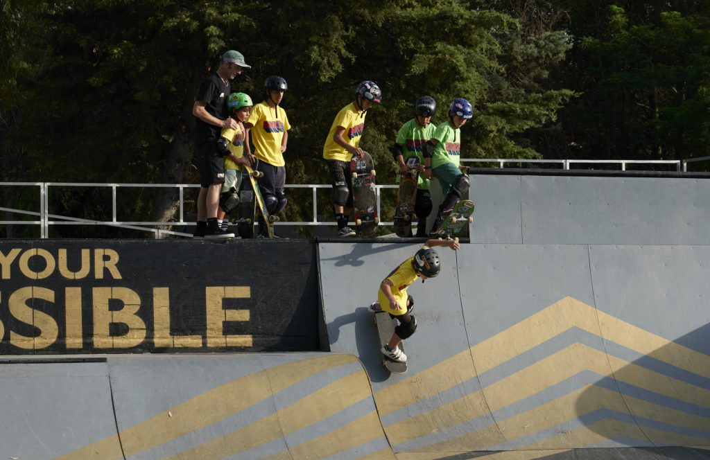 BNKR Toyota Wheel Park half pipe skateboard