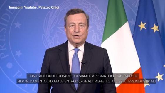 Mario Draghi cambiamenti climatici