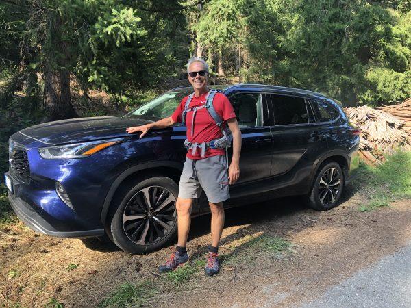 Fabio Orecchini con Toyota Highlander bosco