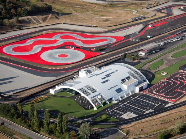 Porsche Franciacorta vista aerea